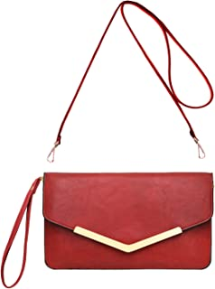 8accfb95a3 CRAZYCHIC - Grand Portefeuille Long Style Cuir PU - Pochette Soirée  Enveloppe Femme - Mini Sac