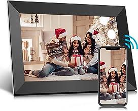 Digitaler Bilderrahmen 10 Zoll WLAN, Digitale Bilderrahmen IPS Touchscreen Eingebauter 16-GB-Speicher, Auto-Rotate, Teilen...