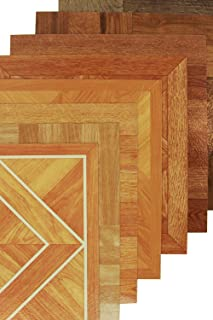 IncStores Wood Peel & Stick Vinyl Flooring Tiles (12in x 12in Tiles, 20 Tiles Per Case) (Classic Parquet Oak)