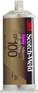3M Scotch-Weld Epoxy Adhesive DP100 Plus Clear, 1.69 oz (Pack of 1)