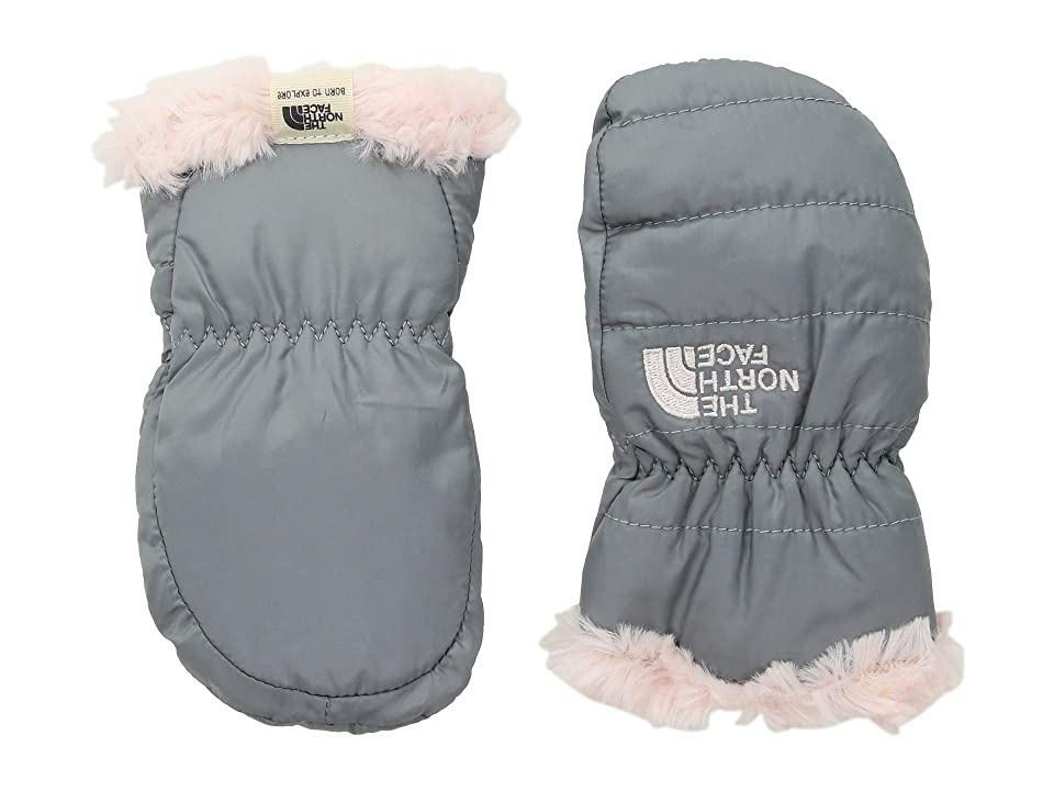 The North Face Kids Reversible Mossbud Swirl Mitt (Infant) (Mid Grey/Purdy Pink) Extreme Cold Weather Gloves