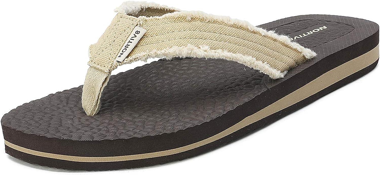 NORTIV 8 Men's Thong Flip Weight Max 72% OFF Sandals Flops Light Max 81% OFF Comfortable