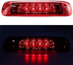 Sanzitop Fit for Jeep Cherokee 1997-2001 55155614AE LED Third 3rd Brake Cargo Light Assembly Rear Brake Light Center Tail Light (Chrome Housing Red Lens)