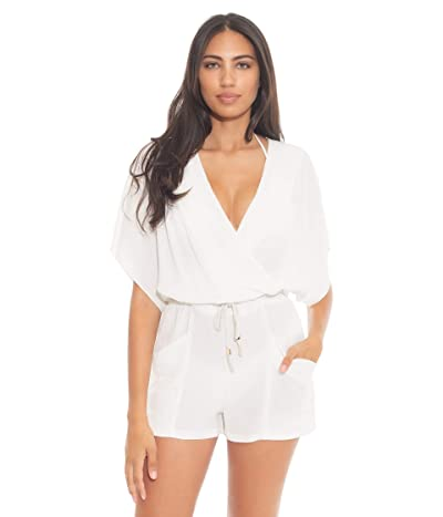 BECCA by Rebecca Virtue With a Twist Romper Cover-Up (White) Women