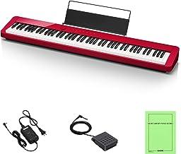 カシオ(CASIO) Privia PX-S1000RD(レッド:赤) 88鍵盤 電子ピアノ デザイン性と高いピアノ性能で人気 Bluetoothスピーカーとして使用可能