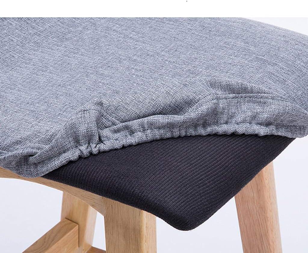 Tabouret de bar de petit déjeuner Tabouret de bar, chaise nordique simple en bois massif, dossier de café (Couleur : E) M