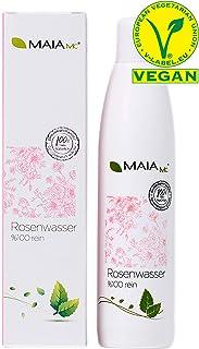 Agua de rosas orgánica 100 % de Maia MC – Vegan – Limpiador de agua facial 250 ml – con vitamina C – sin aditivos – Cosmética natural – contra espinillas – piel impura – Reducción de poros