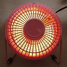 Yuan Dun'er Calentador eléctrico promoción portátil de Aire silencioso Oficina de Estudiantes Hogar Calentador de Escritorio Mini Tubo de Cuarzo Tipo pequeño Calentador Solar Estufa @ 4 Pulgadas Rosa