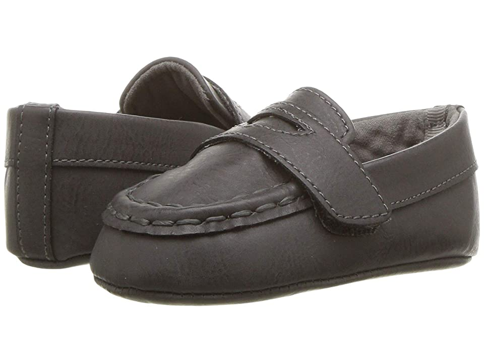 Baby Deer Soft Sole Loafer (Infant) (Dark Grey) Boy