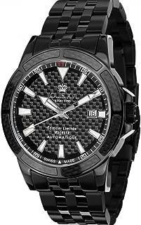 Men's Watch Majesté l'acier Noir Carbone Automatic Swiss Made Analog Stainless Steel 630