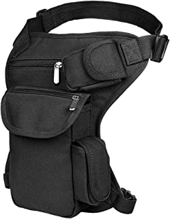 Drop Leg Bag Pouch Men's Thigh Bag Tactical Thigh Pack Canvas Outdoor Travel Waist Pack Sports Fanny Pack Bike Motorcycle Cycling Camping Hiking Hip Bag