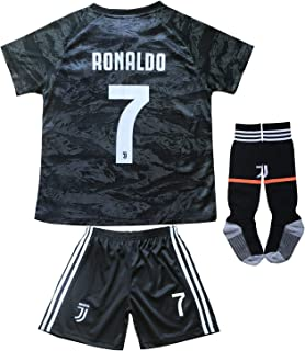 FCM 2019/2020 CR7 New #7 Cristiano Ronaldo Kids Soccer Jersey & Shorts Youth Sizes