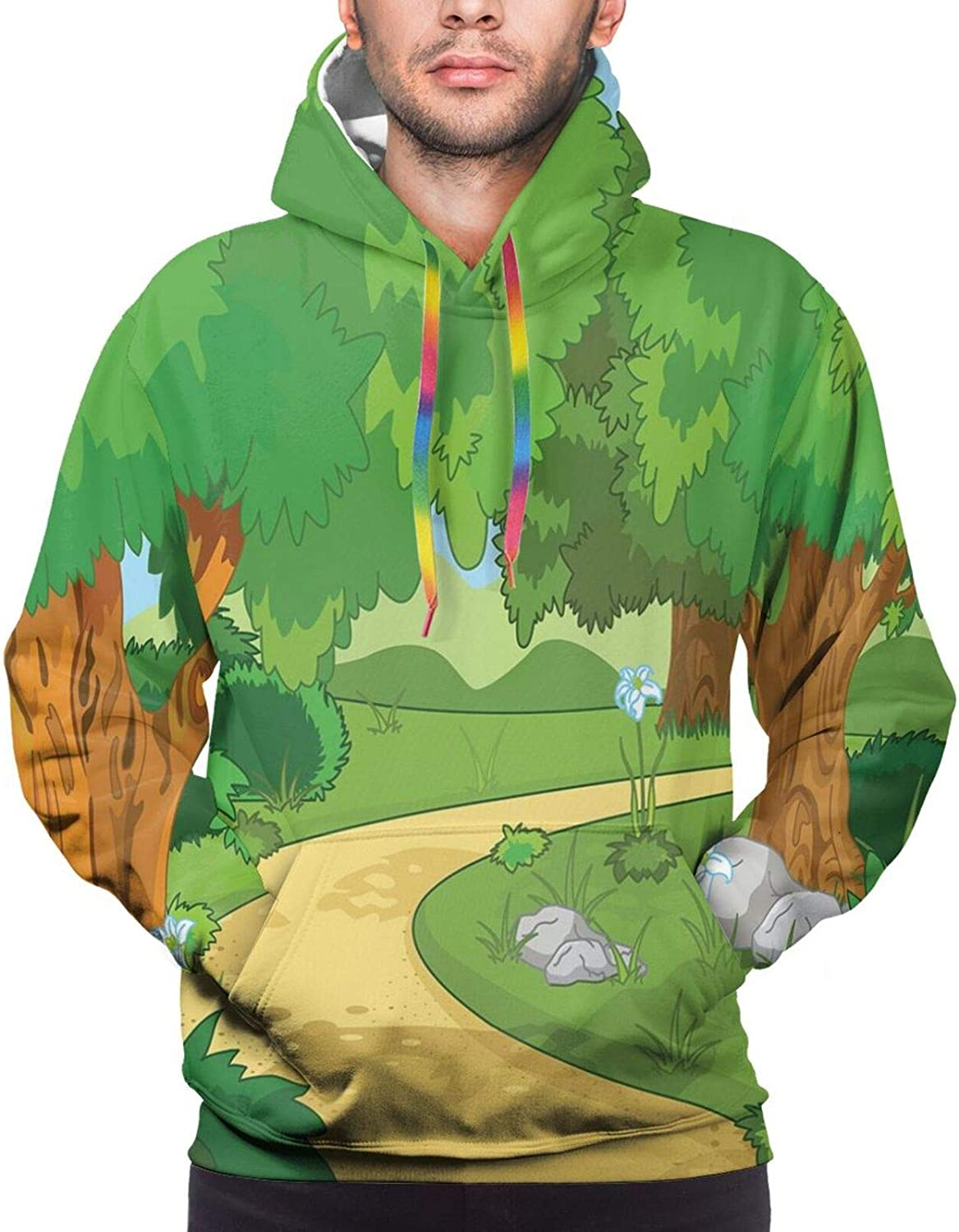 Men's Hoodies Sweatshirts,Children Baby Boy Toy Figures Pattern with Dots Number Five Cars for Joyous Play Time
