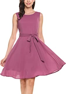 purple chiffon dress short