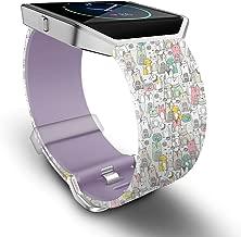 Fitbit Blaze bantlarında, Skylet silikon için yedek bileklik, metal çerçeve Fitbit Blaze Smart Watch (ohne Tracker)