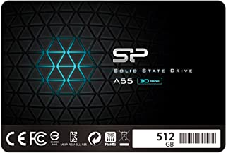 """Silicon Power SSD 512GB 3D NAND A55 SLC Cache Performance Boost 2.5 inch SATA III 7mm (0.28"""") Internal Solid State Drive"""