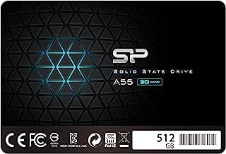 "Silicon Power SSD 512GB 3D NAND A55 SLC Cache Performance Boost 2.5 Pollici SATA III 7mm (0.28"") SSD interno"