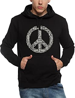 ADRO Men's Peace Design Printed Cotton Hoodies