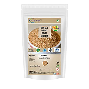 neotea Broken Wheat Ravai Daliya or Godhuma Rava, 500 g