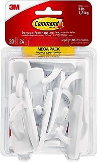 Best Command Utility Hooks Mega Pack, Medium, White, 20-Hooks (17001-MPES), Organize Damage-Free Review