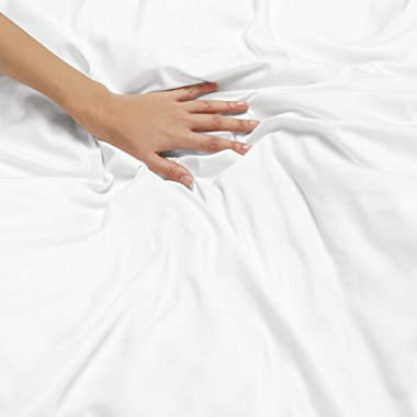 Duvet Cover Duvet Cover-1 PC-Soft Double 800 TC 100 % Egyption Cotton Hotel-Quality – Comforter Cover,White--California King