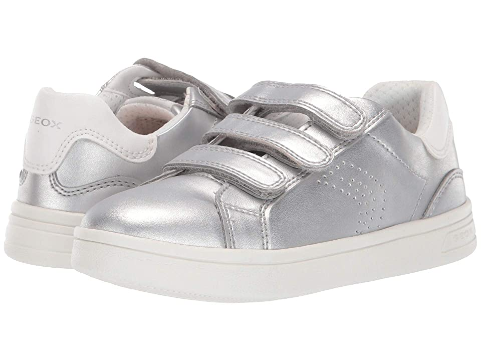 Geox Kids Djrock Girl 21 (Little Kid/Big Kid) (Silver) Girl