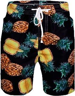 Sykooria Shorts Mens Swim Trunks Casual Surf Beach Shorts Fancy Print Hawaiian Shorts Casual Quick Dry Board Shorts Pants ...
