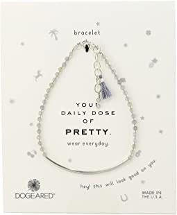 Dogeared - Your Daily Dose of Pretty Tube w/ Beaded Gems Bracelet