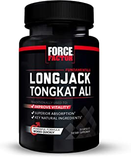 Longjack Tongkat Ali for Men, Natural Male Vitality Supplement, Improve Drive with Eurycoma Longifolia Extract and Superio...