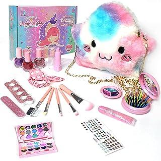 Pepisky Kids Children's Makeup Set,Girls Makeup Kit for Girls Princess Make Up Box Nontoxic Cosmetics Kit Toys Pretend Pla...