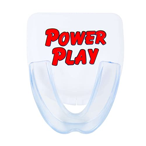 Power Play Mouth Guard. Moldable Strapless Single mouthguard for Sports: Hockey, Football, Boxing, Basketball, MMA, Wrestling. Include Mouth Guard case. Fits Youth and Adults.