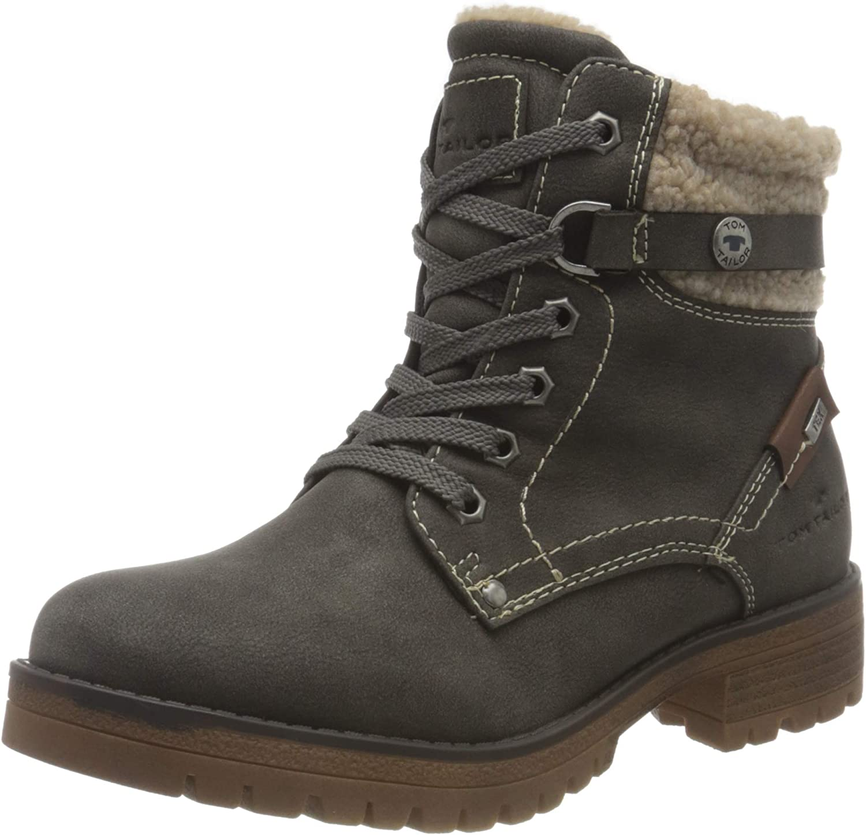 TOM TAILOR Women's 9091004 Mid Calf Boot, Coal, 7.5 US