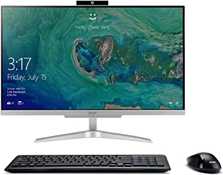 "Acer Aspire C24-865-ACi5NT AIO Desktop, 23.8"" Full HD, 8th Gen Intel Core i5-8250U, 12GB DDR4, 1TB HDD, 802.11ac WiFi, Wireless Keyboard and Mouse, Windows 10 Home"