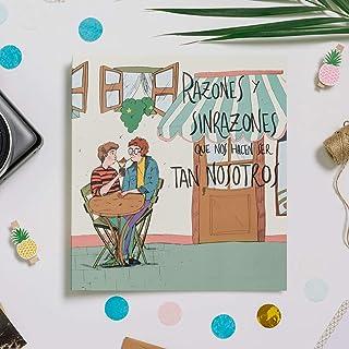 Recuerding - Album photo pour Couples - 70 pages (22 x 24 cm) - Personnalisable - Moderne et original - Écrire et coller