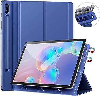 Ztotops Funda for Samsung Galaxy Tab S6 10.5 2019 SM-T860/T865, con Soporte de Pencil, Respaldo magnético Inteligente Smart Cover Auto-Sueño/Estela para Samsung Galaxy Tab S5e 10.5 Pulgadas,Azul