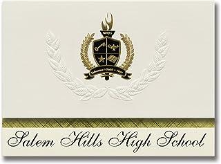Signature Ankündigungen Salem Hills High School (Salem, UT) Graduation Ankündigungen, Presidential Stil, Elite Paket 25 Stück mit Gold & Schwarz Metallic Folie Dichtung B078VF2CPC  Sport entzündet das Leben