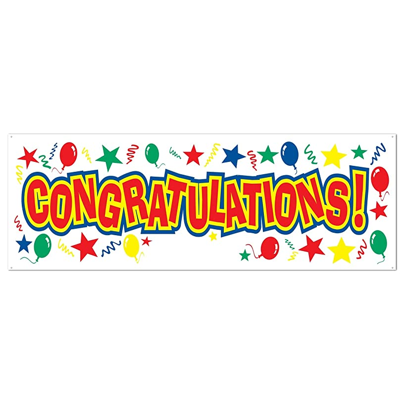 Congratulations Sign Banner Party Accessory (1 count) (1/Pkg)