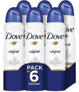 Dove - Desodorante Aerosol Original, pack de 6x200 ml