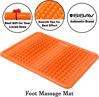Orange Foot Massage Mat for Plantar Fasciitis Treatment, Acupressure Massage Mat for Pain and Stress Relief, Reflexology Mat to Make You Active, Improve Your Sleep and Make You Feel Good