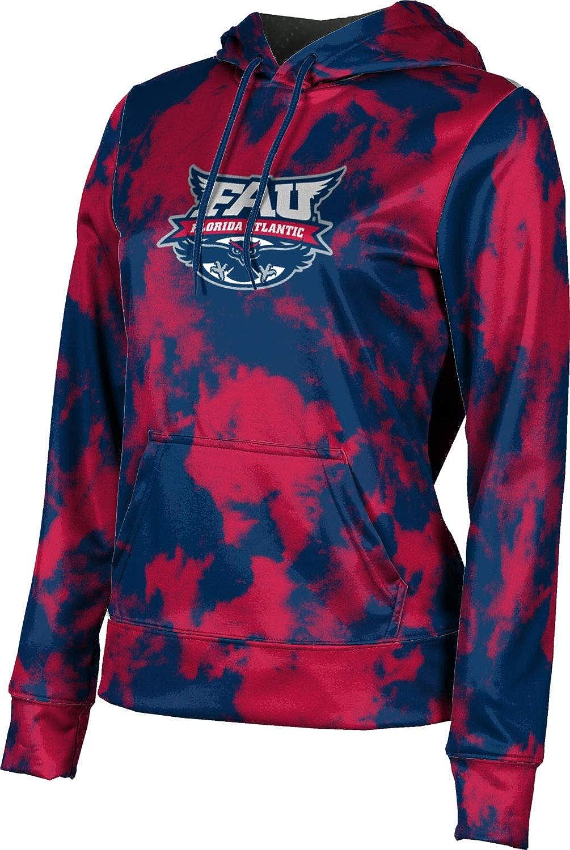 Florida Atlantic University Girls' Pullover Hoodie, School Spirit Sweatshirt (Grunge)