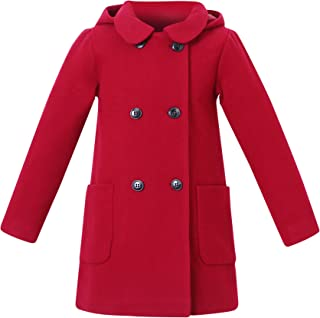 Girls' Wool Double-Breasted Jacket Sizes 1-10Y RH2517