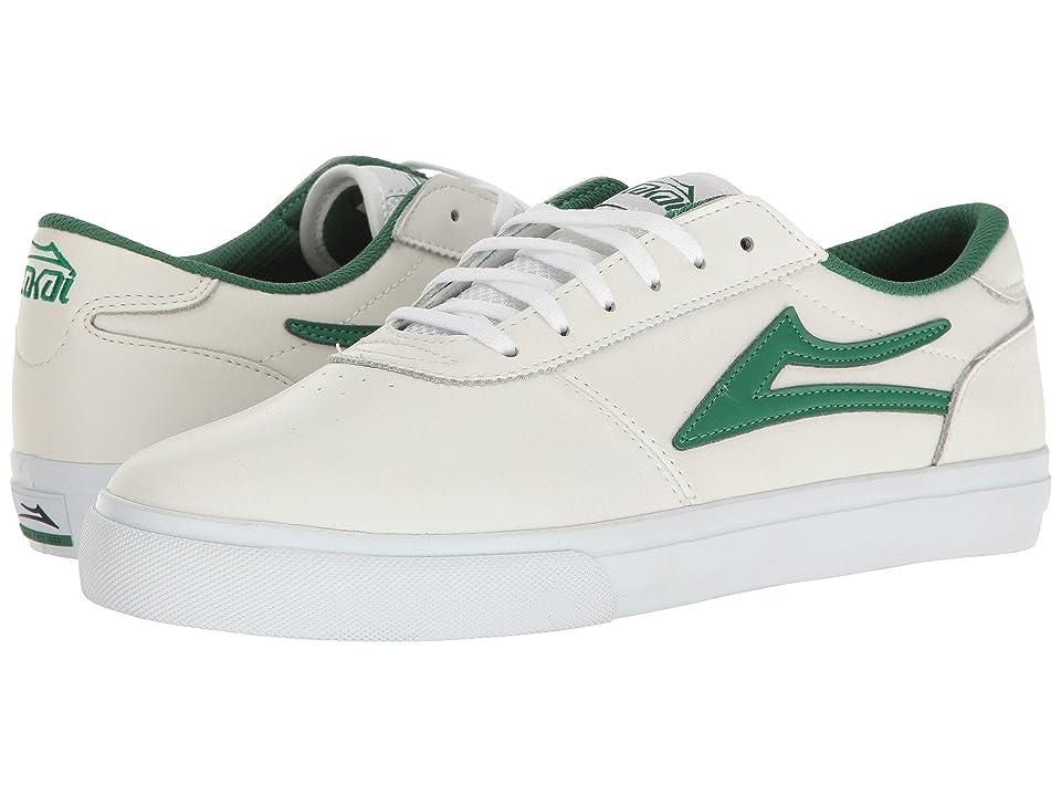 Lakai Manchester (White/Green Leather) Men