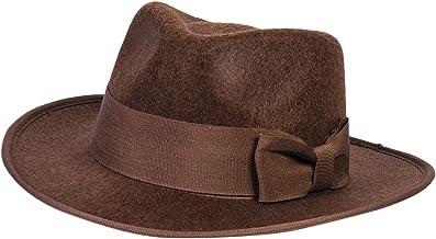 FORUM Novelties - Sombrero de Fedora para niños, Color marrón