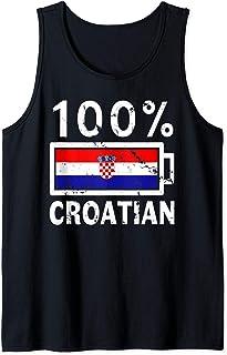 Croatia Flag Design | 100% Croatian Battery Power Tee Tank Top
