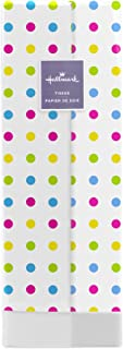 Hallmark Tissue Paper (White with Pink, Green, Yellow, Blue Polka Dot, 8 Sheets) for Easter, Mother's Day, Birthdays or Any Occasion