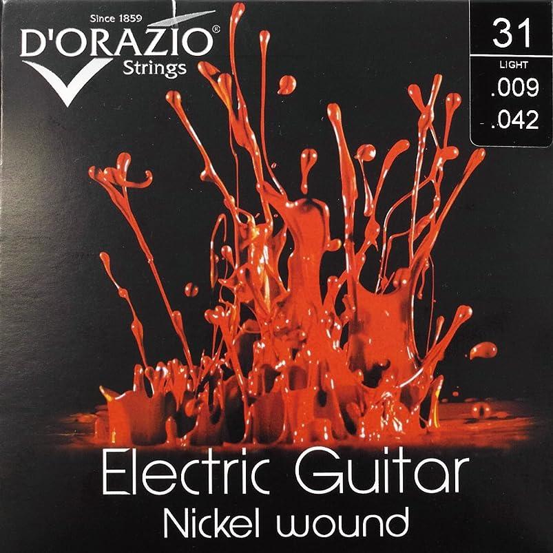 彼女ブラウザ弱いD'Orazio Strings Electric Guitar Nickel Round Wound ドラジオストリングス エレクトリックギターニッケルラウンドワウンド 国内正規品 (31 (Light 009-042))