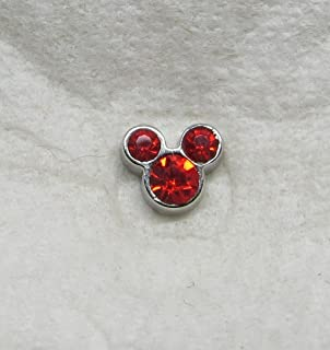 Mickey Mouse Ears July Birthstone Floating Charm