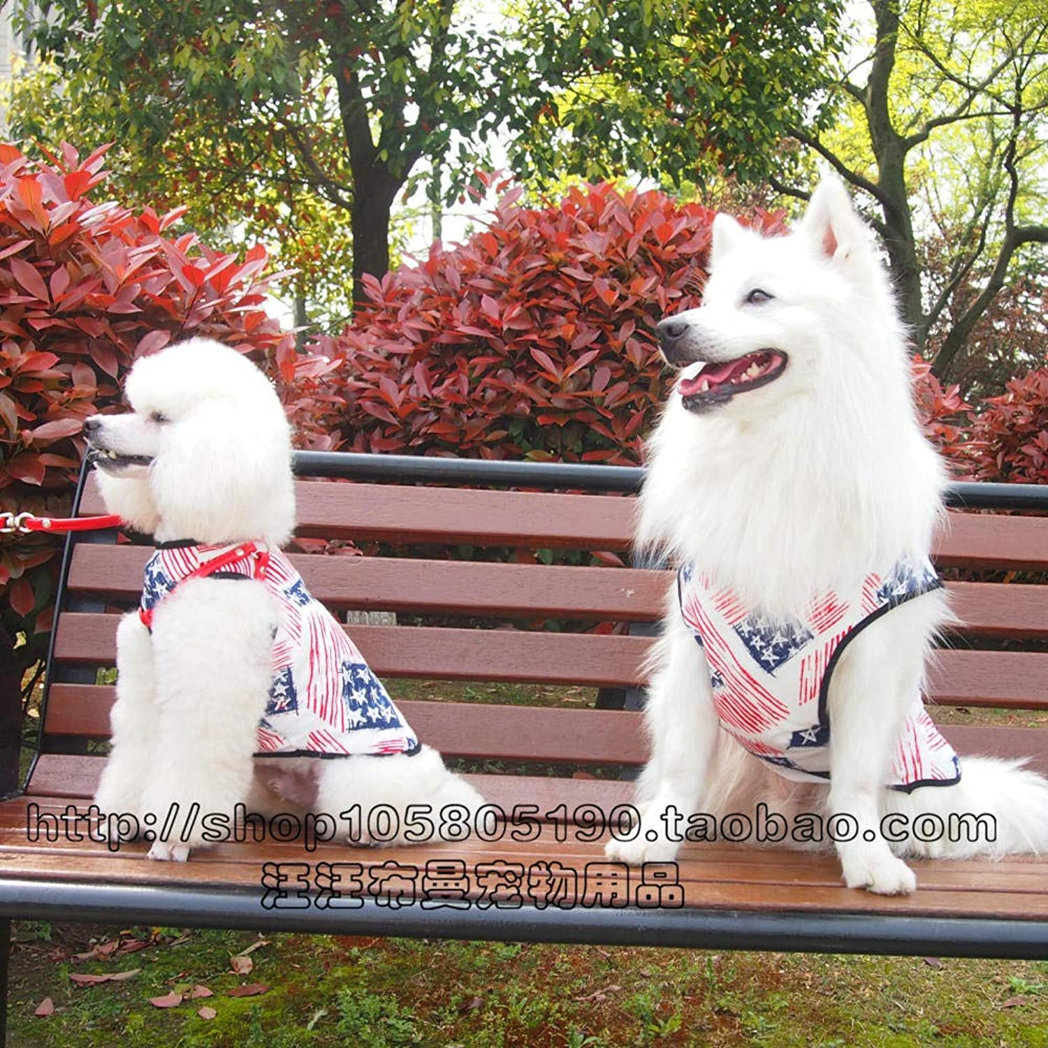 deportes calientes Medium-Tallad Dog Spring and Summer Pet Clothes Big Big Big Dog Samoyed Dog Vest Summer Dress Husky Vest