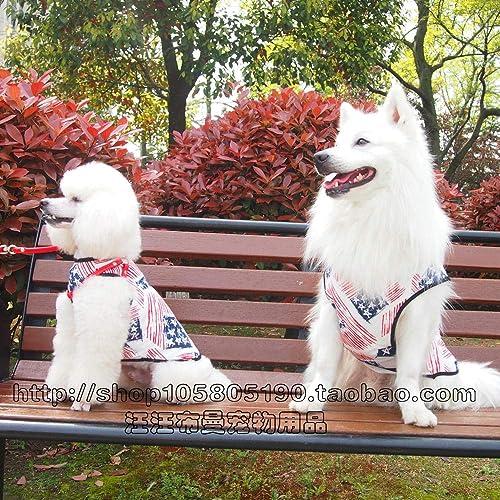 online al mejor precio Medium-Tallad Dog Spring and Summer Pet Clothes Big Big Big Dog Samoyed Dog Vest Summer Dress Husky Vest  ahorrar en el despacho
