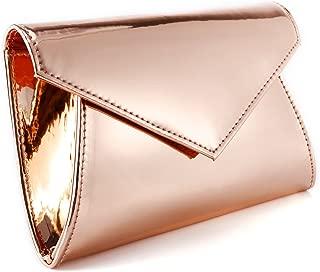 Shimmery Metallic PU Leather Sparkling Flap Prom Clutch Purse Women Shoulder Bag